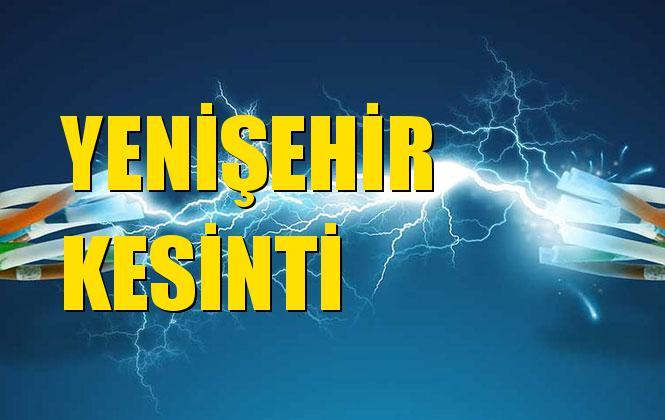 Yenişehir Elektrik Kesintisi 25 Ekim Cuma