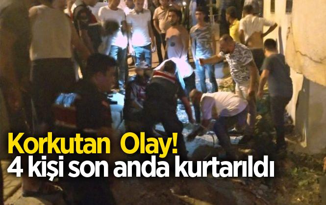 Mersin Erdemli Kargıpınarı Mahallesinde Yanan Evden 4 Kişiyi Kurtardı