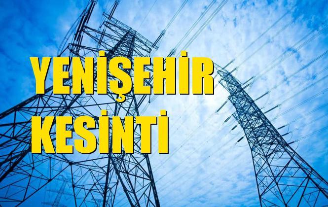 Yenişehir Elektrik Kesintisi 03 Kasım Pazar