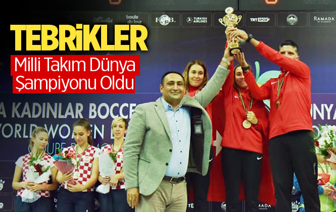 Türkiye Bocce Kadınlar Milli Takımı Mersin'de Dünya Şampiyonu Oldu