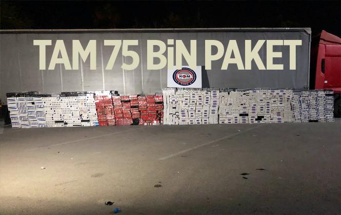 Mersin'de 75 Bin Paket Kaçak Sigara Ele Geçirildi