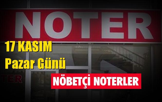 17 Kasım Pazar Günü Mersin ve Tarsus'taki Nöbetçi Noterler