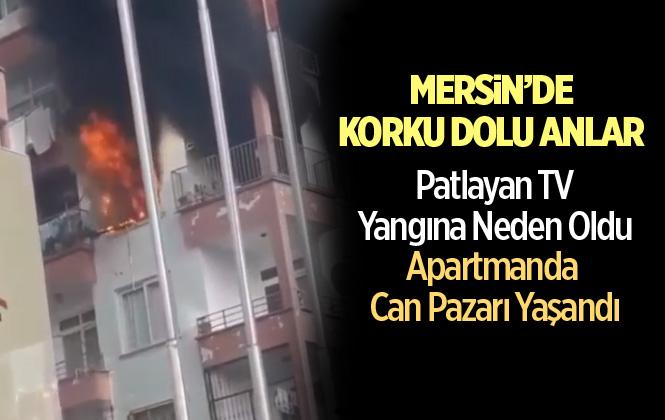 Mersin'de Patlayan Tv Yangına Neden Oldu