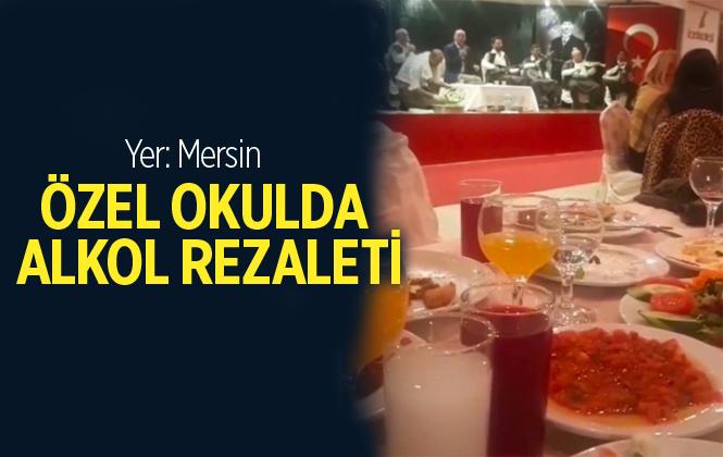 Mersin'de Özel Okulda Alkollü Eğlence Rezaleti
