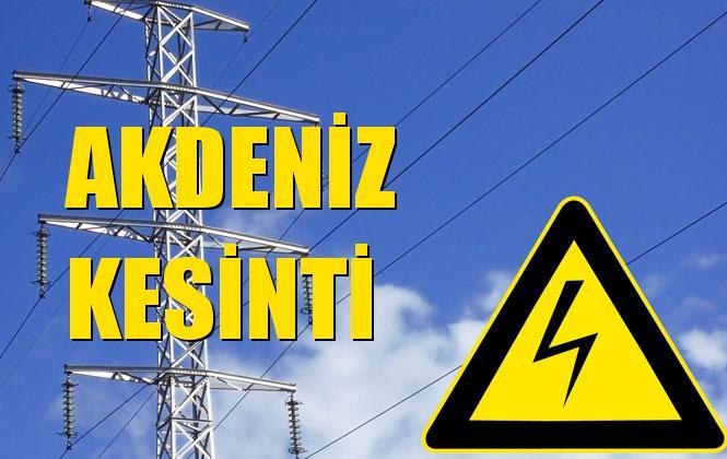 Akdeniz Elektrik Kesintisi 25 Kasım Pazartesi