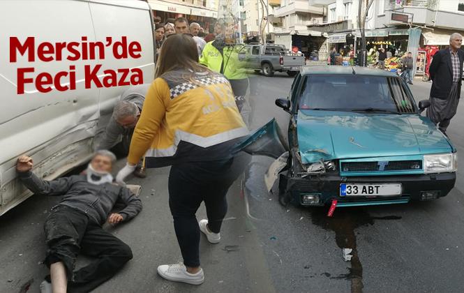 Mersin Tarsus Bisiklet Sürücüsüne Araba Çarptı