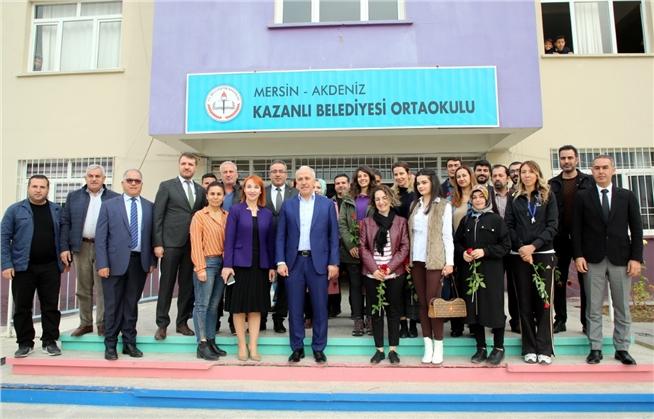 Akdeniz Belediye Başkanı Gültak'tan, 'öğretmenler Günü' Ziyaretleri