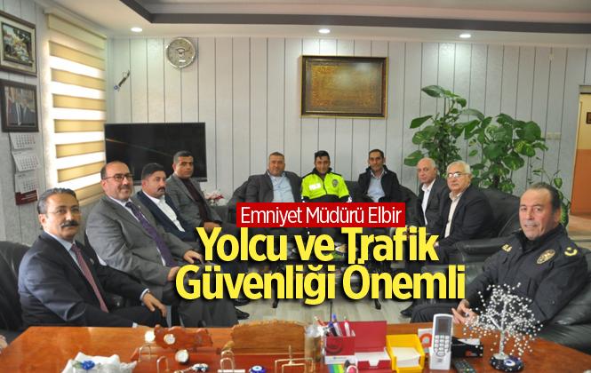 """Tarsus Emniyet Müdürü Ercan Elbir: """"Yolcu ve Trafik Güvenliği çok önemli"""""""