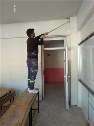Mersin Tarsus Kulak Mahallesinde, Eğitim Yuvası Boyanarak Tertemiz Hale Getirildi