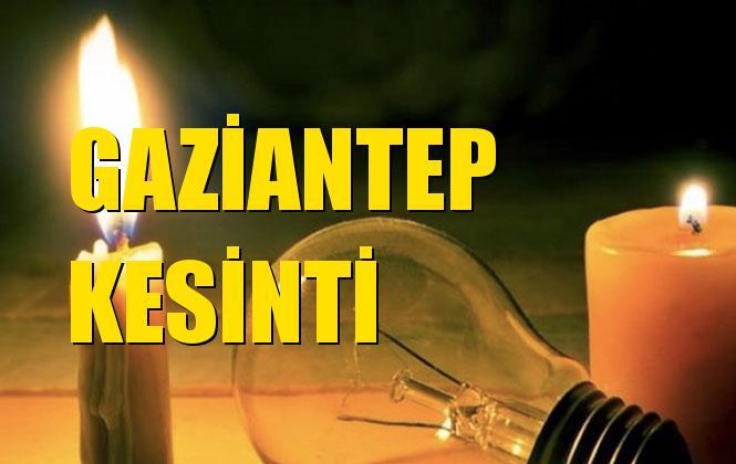 Gaziantep Elektrik Kesintisi 01 Aralık Pazar