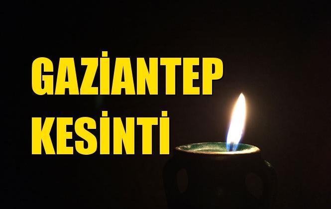 Gaziantep Elektrik Kesintisi 02 Aralık Pazartesi