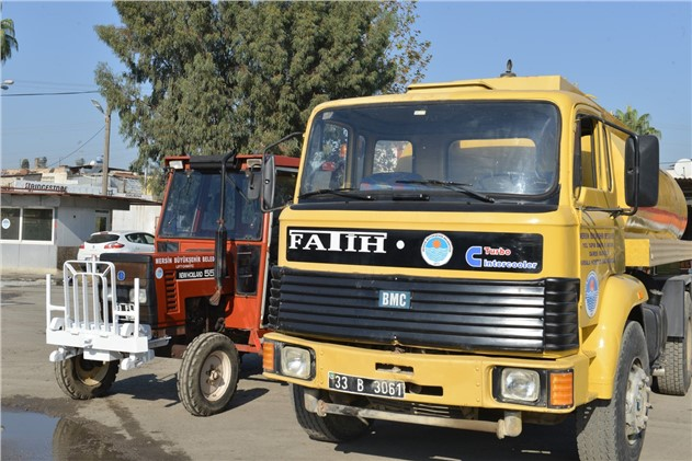 Atıl Haldeki Traktör ve Arazöz Aracı Onarıldı