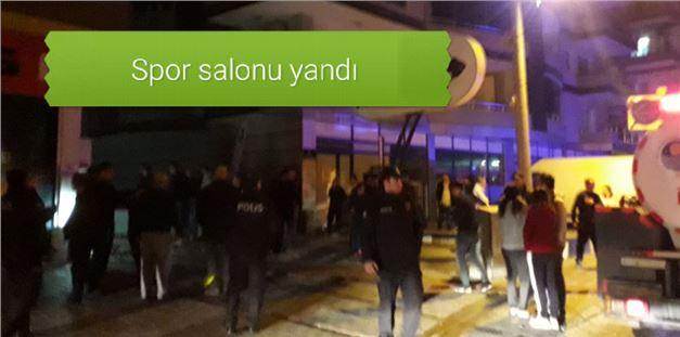 Mersin Tarsus'ta Özel Spor Salonunda, Gece Saatlerinde Yangın Çıktı; Maddi Zarar Meydana Geldi