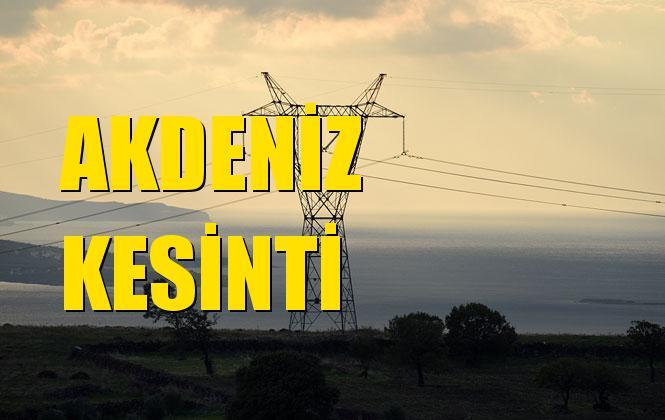 Akdeniz Elektrik Kesintisi 04 Aralık Çarşamba