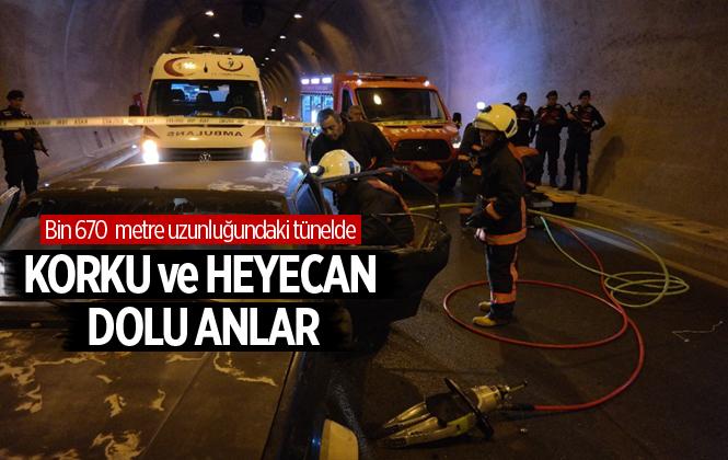 Mersin Boğsak Tünelinde Trafik Kazası Tatbikatı