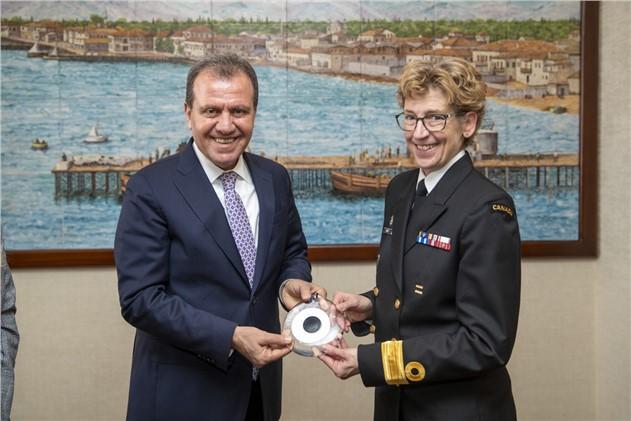 Nato Müttefik Donanması'ndan Başkan Seçer'e Ziyaret