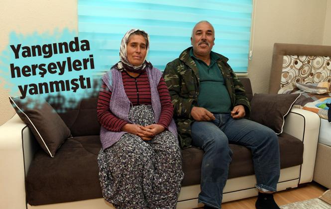 Çadırları Yanan Can Ailesi'ne Yardım Eli Uzandı