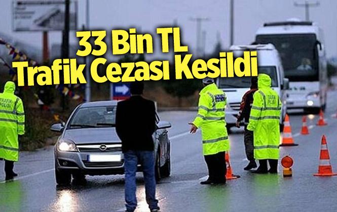Mersin Tarsus'ta Bir Haftada 50 Araca Toplamda 33 Bin 569 TL Trafik Cezası Kesildi
