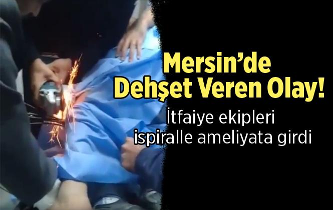 Mersin'de Bacağına Çelik Kanca Saplanan İşçi Tedavi Altına Alındı