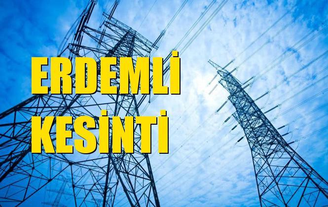 Erdemli Elektrik Kesintisi 22 Aralık Pazar