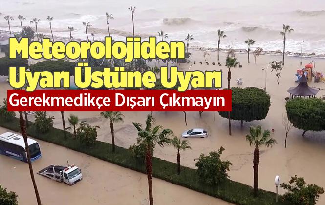 Meteoroloji'den Mersin ve Adana İçin Şiddetli Yağış Uyarısı