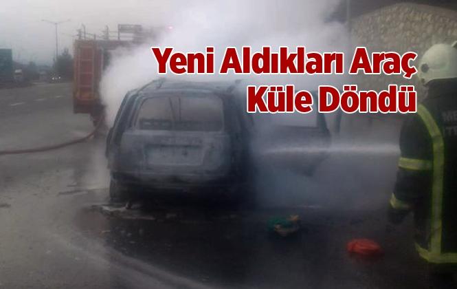 Mersin Tarsus'ta Araç Yangını