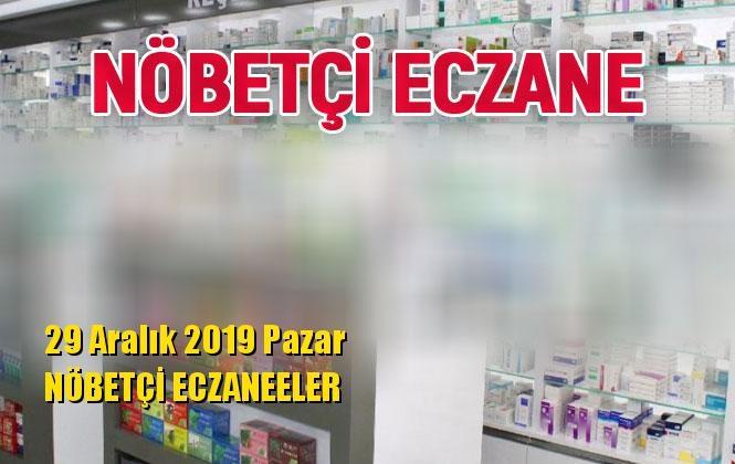Mersin Nöbetçi Eczaneler 29 Aralık 2019 Pazar