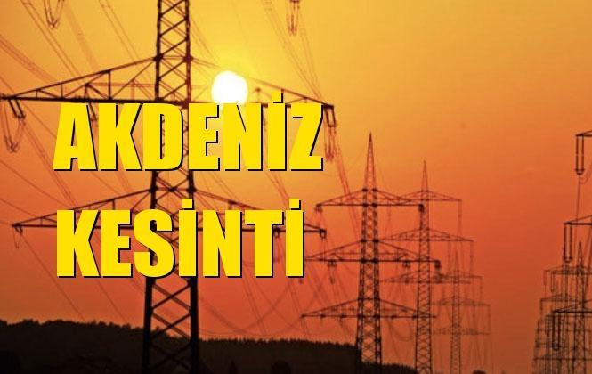 Akdeniz Elektrik Kesintisi 29 Aralık Pazar