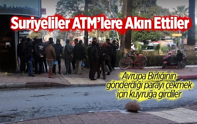 Mersin'de Suriyelilerin ATM Kuyruğu