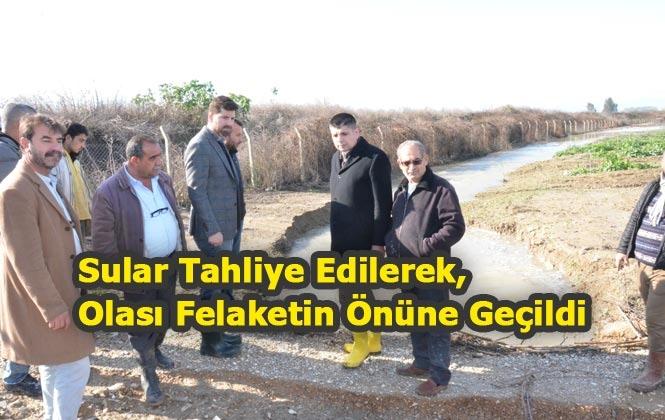 Mersin Tarsus'ta Yaşanan Taşkın ve Sele Mersin Büyükşehir'den Müdahale