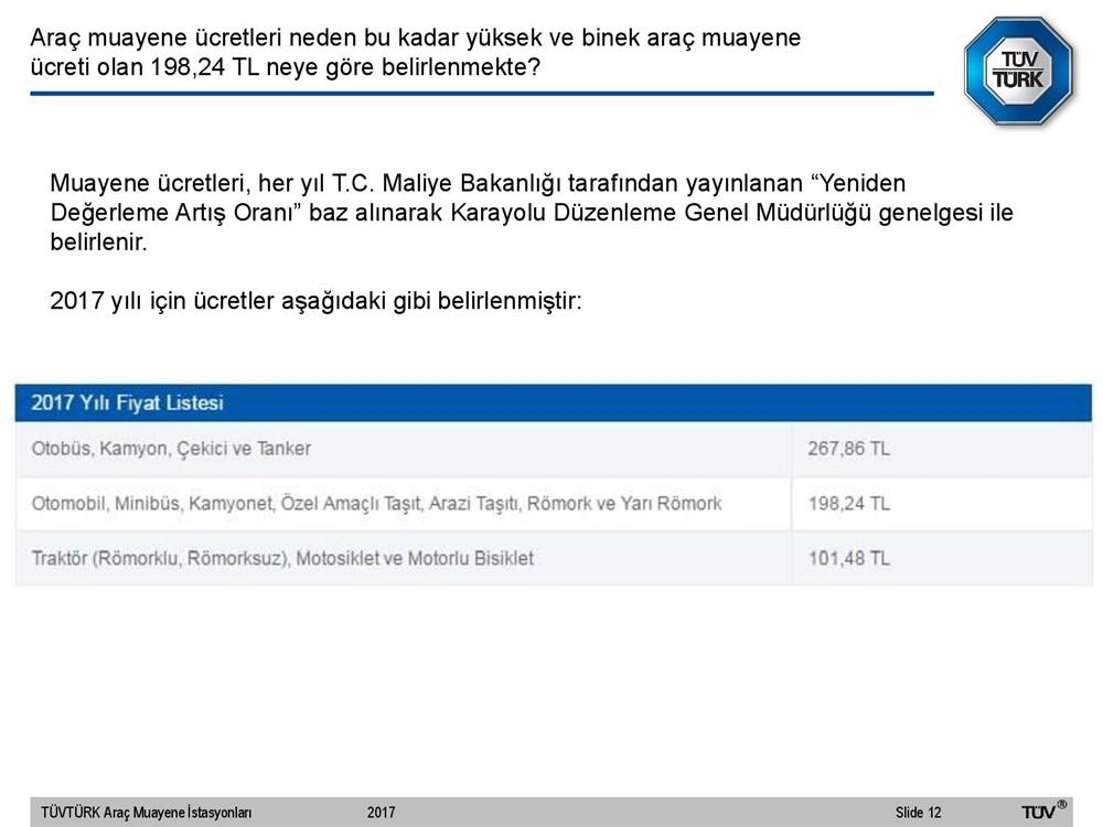 TÜVTÜRK Fiyat Listesi 2020! TÜVTÜRK 2020 Yılı Zamlı Araç Muayene Ücretleri