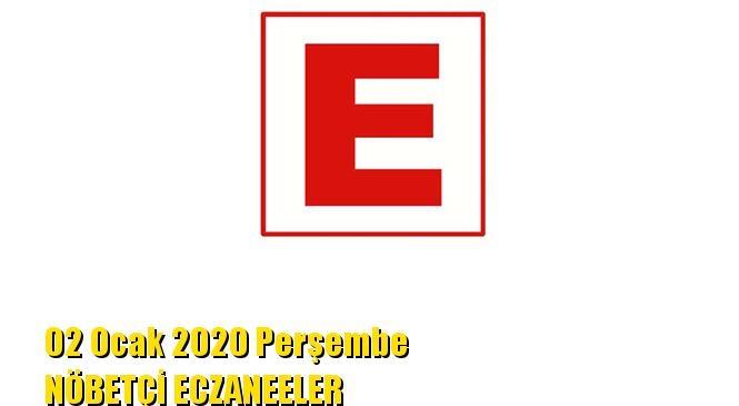 Mersin Nöbetçi Eczaneler 02 Ocak 2020 Perşembe