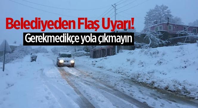 Gülnar Belediyesinden Kar Yağışı Uyarısı