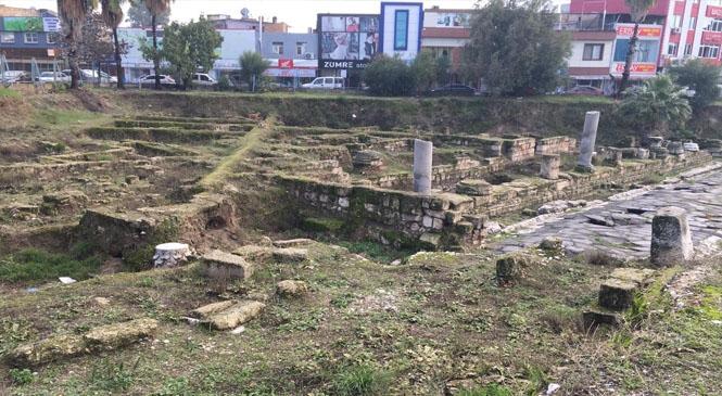 Tarsus'ta Antik Yol Çevresindeki Ağaçlar Budandı