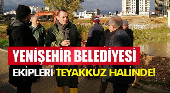 """Yenişehir Belediyesi Ekipleri Teyakkuz Halinde! Başkan Özyiğit, """"Sorunlara Anında Müdahale Ediyoruz"""""""