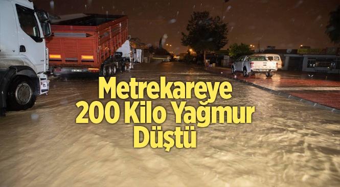 Mersin'de Metrekareye 200 Kilogram Yağmur Düştü