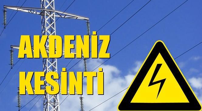 Akdeniz Elektrik Kesintisi 09 Ocak Perşembe