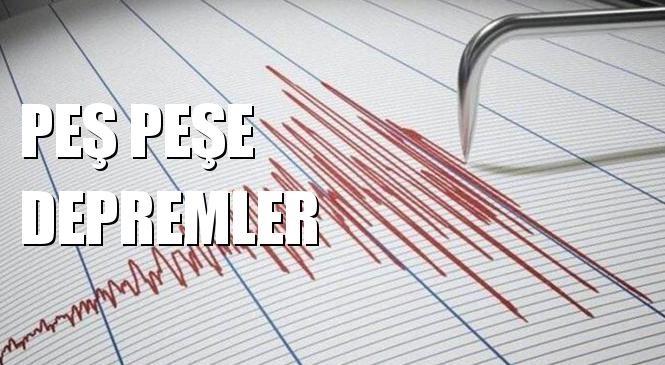 Marmara Denizinde Peşe Peşe Depremler! Güzelkoy - Tekirdağ Açıklarında Deprem