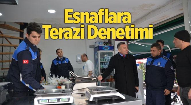 Akdeniz Belediyesi Zabıtasından Terazi Denetimi