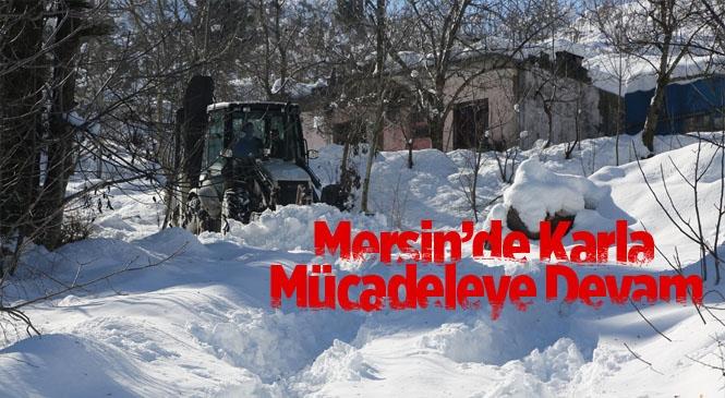 Belediye Karla Mücadeleye Devam Ediyor