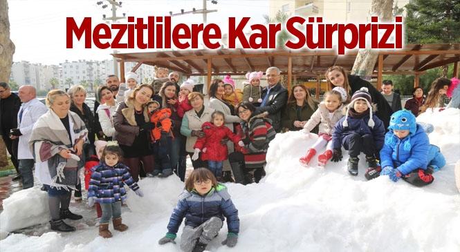 Başkan Tarhan'dan Miniklere Kar Sürprizi