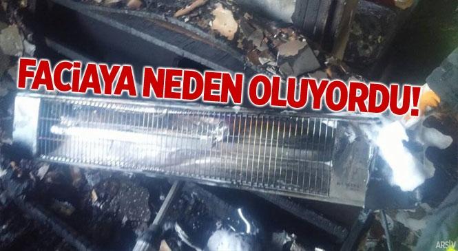 Mersin Tarsus'ta Elektrikli Isıtıcı Yangın Çıkardı