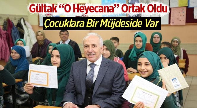 Akdeniz Belediye Başkanı Gültak, Çocukların Karne Heyecanını Paylaştı