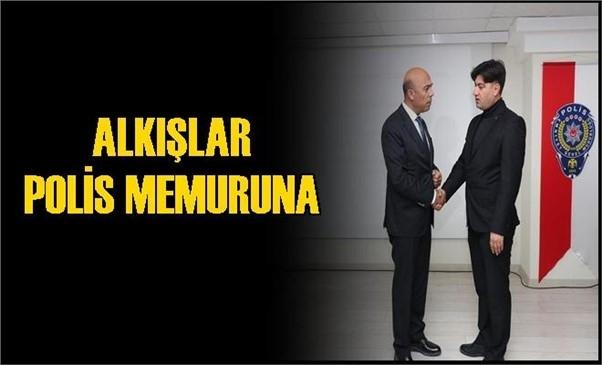 Mersin'de Alkışlar Polis Memuru Mustafa Polat'a
