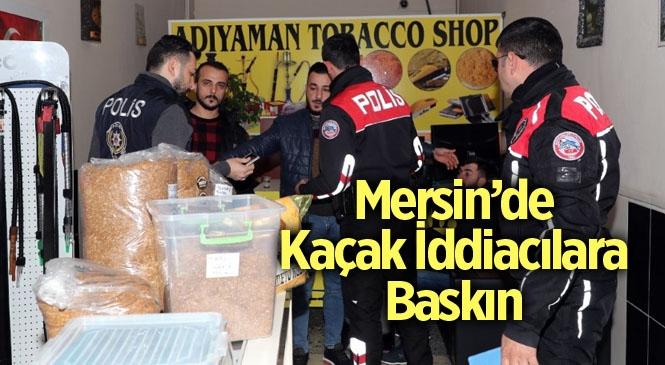 Mersin'de Kaçak İddia Operasyonu