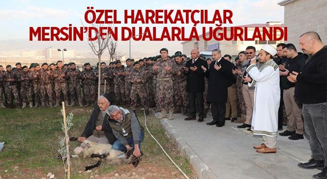 Mersin'de Özel Harekat Polisleri Barış Pınarı Harekat Bölgesine Uğurlandı