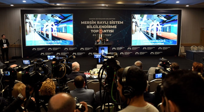 Mersin Raylı Sistem İçin Hedef 2020'de İlk Kazmayı Vurmak