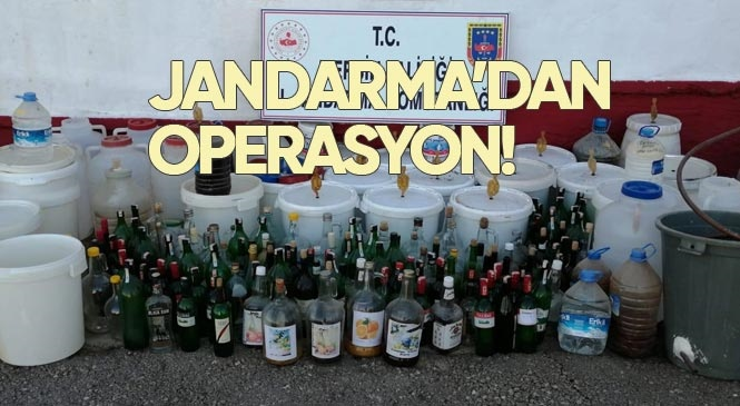 Mersin Erdemli Ayaş'ta Jandarma Tarafından Yapılan Operasyonda, Kaçak ve Sahte İçki Ele Geçirdi