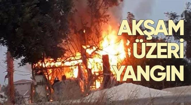 Mersin Erdemli Fatih Mahallesindeki Bir Evde Yangın Çıktı!