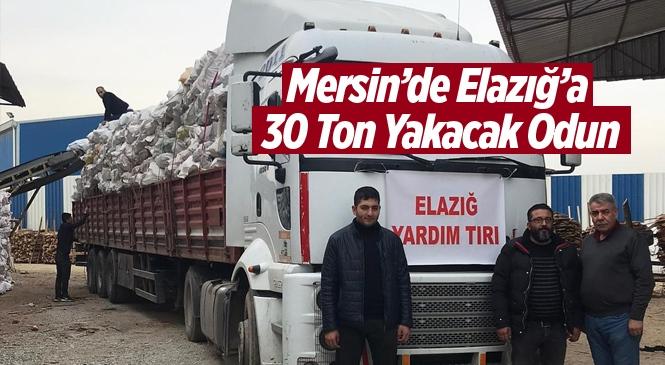 Mersin'den Elazığ'daki Depremzedeler İçin Yakacak Odun Yardımı